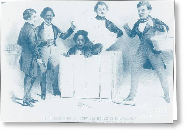 Abolition Greeting Cards - Resurrection Of Henry Box Brown Greeting Card by Photo Researchers