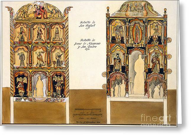 Retablos Greeting Cards - Retablo, 1816 Greeting Card by Granger