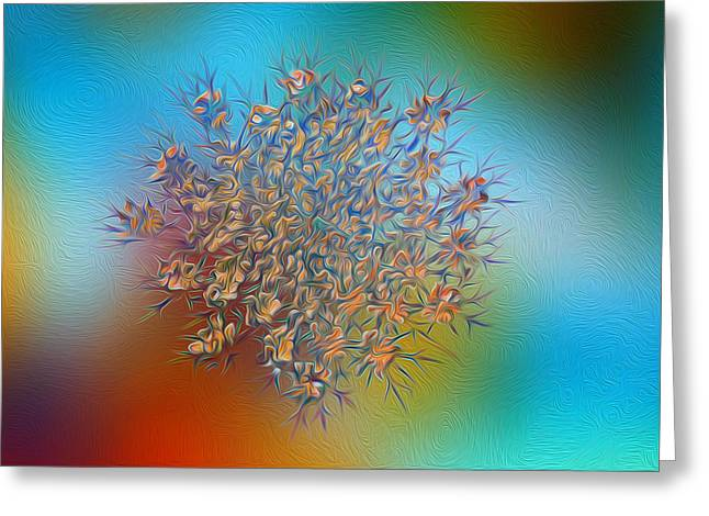Reticulated Glory Greeting Card by Bill Tiepelman