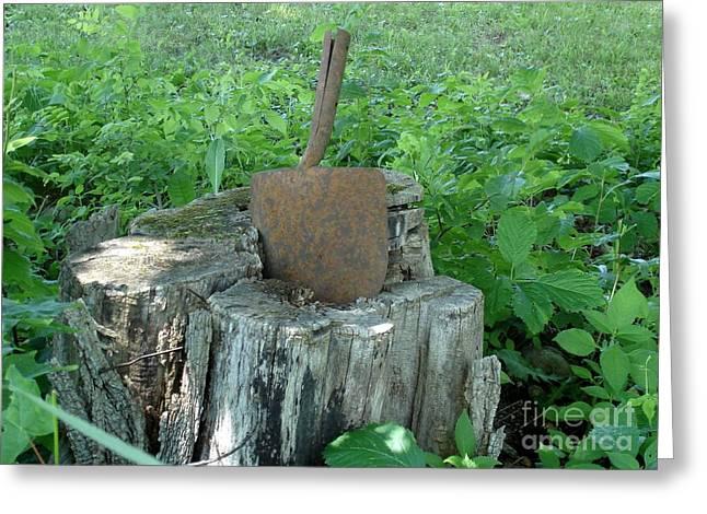 New Hampshire Logging Greeting Cards - Retired Shovel  Greeting Card by Kerri Mortenson