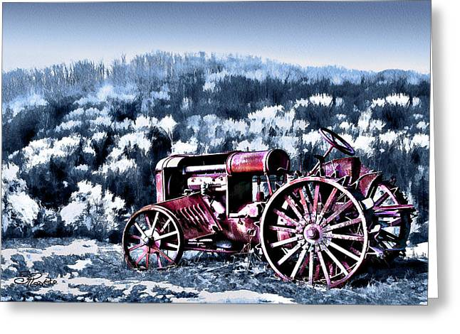 Suni Roveto Greeting Cards - Retired Tractor Greeting Card by Suni Roveto