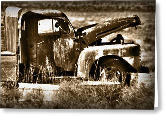 Ford Brown Print Greeting Cards - Retired Truck Greeting Card by Shane Bechler