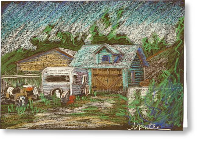 Trailers Greeting Cards - Retirement Plan Study Greeting Card by Athena  Mantle