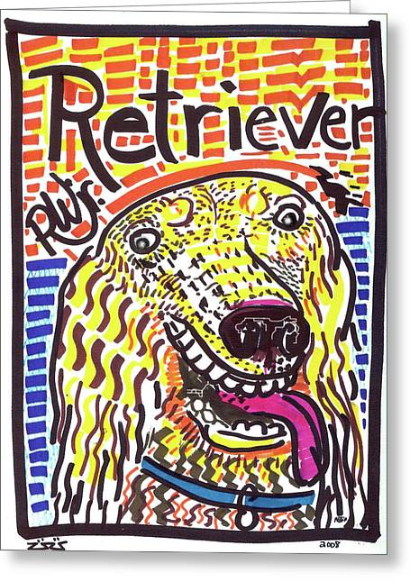 Hunting Cabin Greeting Cards - Retriever Greeting Card by Robert Wolverton Jr