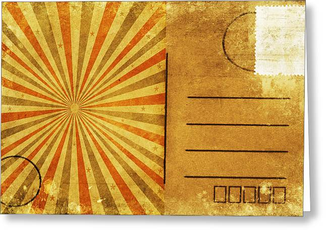 Retro Grunge Ray Postcard Greeting Card by Setsiri Silapasuwanchai