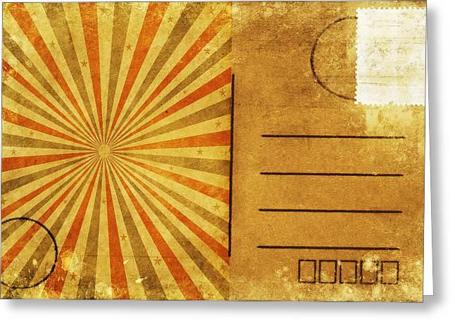 retro grunge ray postcard Greeting Card by Setsiri Silapasuwanchai