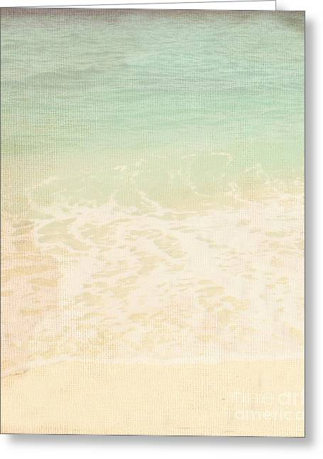 Sand Patterns Mixed Media Greeting Cards - Retro Sea And Sand Greeting Card by Tul Chalothonrangsee