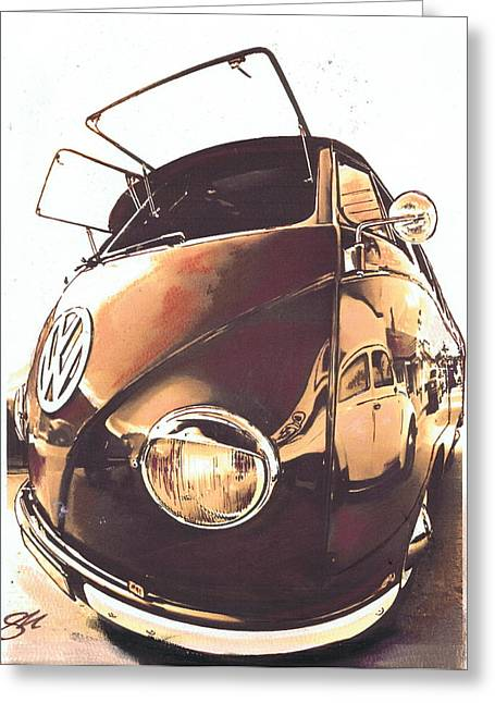 Historic Vehicle Pastels Greeting Cards - Retro Greeting Card by Sharon Poulton