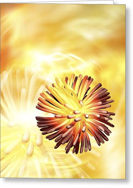 Retrovirus Greeting Cards - Retrovirus Particle, Artwork Greeting Card by Victor Habbick Visions
