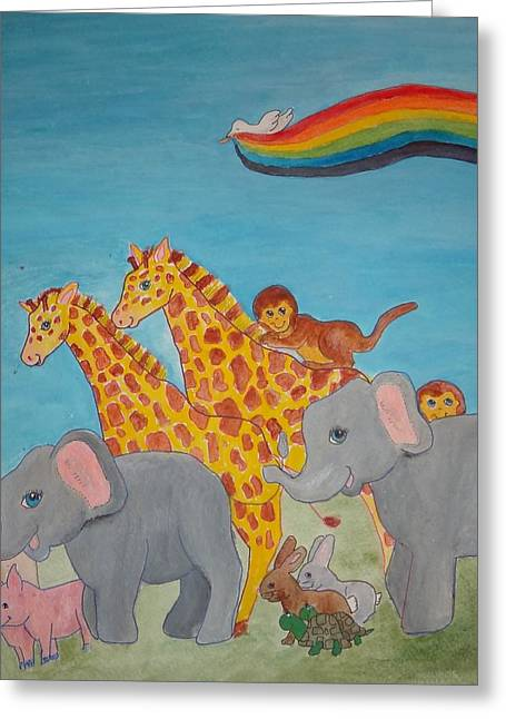 Return From The Ark Greeting Card by Heather Walker