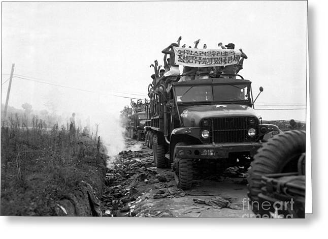 1950-1959 Greeting Cards - Return Of Pows During Operation Big Greeting Card by Stocktrek Images
