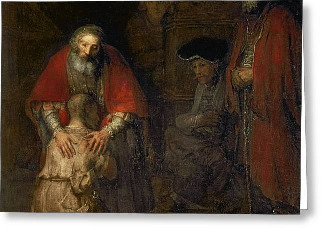 Return of the Prodigal Son Greeting Card by Rembrandt Harmenszoon van Rijn