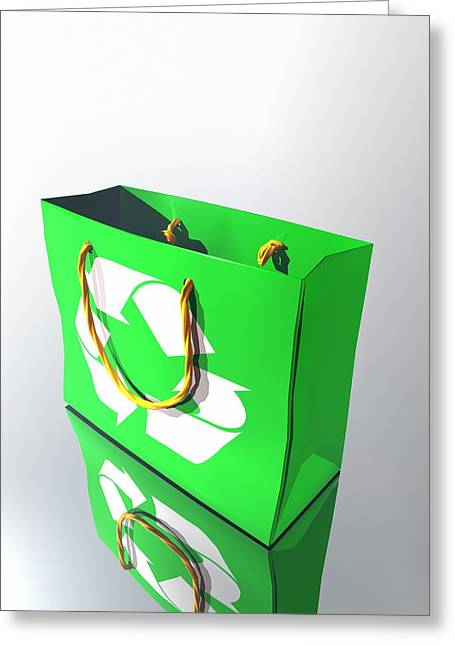 Shopping Bag Greeting Cards - Reusable Shopping Bag, Artwork Greeting Card by Victor Habbick Visions