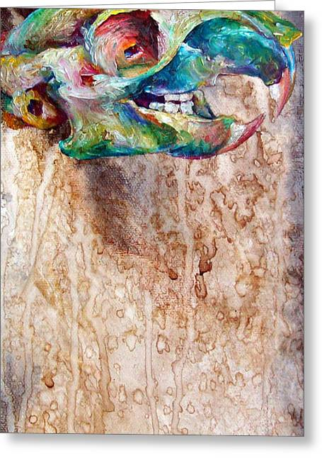 Drippy Paintings Greeting Cards - Revolution Squirrel Greeting Card by Christy  Freeman