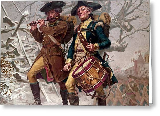 Revolutionary War Soldiers Marching Greeting Card by War Is Hell Store