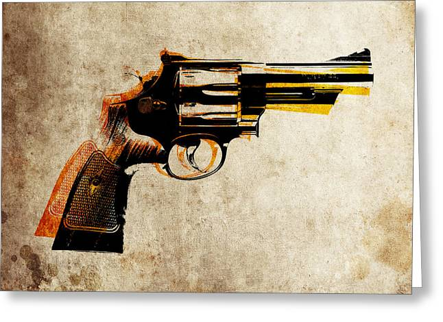 Bullet Greeting Cards - Revolver Greeting Card by Michael Tompsett