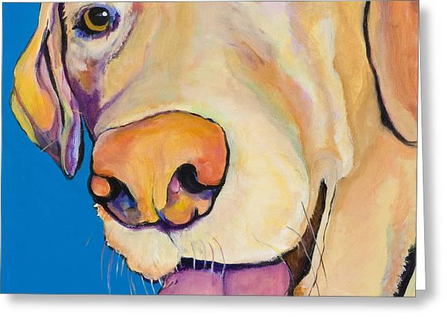 Pat Saunders-white Paintings Greeting Cards - Rex Greeting Card by Pat Saunders-White
