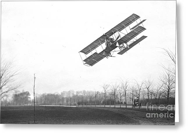 Ewing Greeting Cards - Rex Smith Biplane 1912 Greeting Card by Padre Art