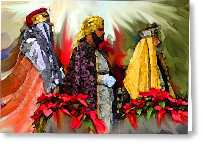 Tarjetas Greeting Cards - Reyes Magos Greeting Card by Estela Robles