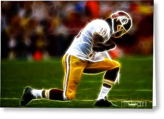 Tebowing Greeting Cards - RG3 - Tebowing Greeting Card by Paul Ward