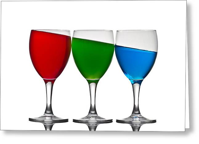 Refreshment Greeting Cards - Rgb Greeting Card by Gert Lavsen