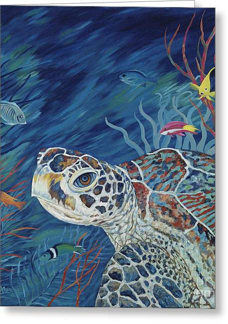 Reef Fish Greeting Cards - Rhapsody in Blue Greeting Card by Danielle  Perry