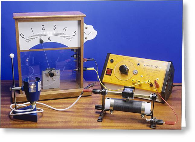 Amperes Greeting Cards - Rheostat Controlling Current Greeting Card by Andrew Lambert Photography