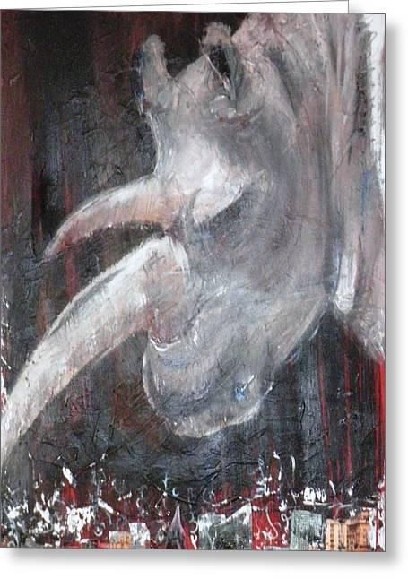 Rhinoceros Paintings Greeting Cards - Rhinoceros Greeting Card by Vered Fishman