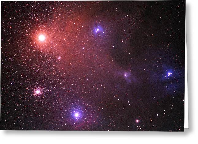 Rho Greeting Cards - Rho Ophiuchi Nebulosity Greeting Card by Dr Fred Espenak