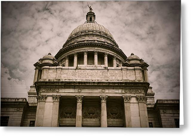 Capitol Greeting Cards - Rhode Island Capitol Greeting Card by Lourry Legarde