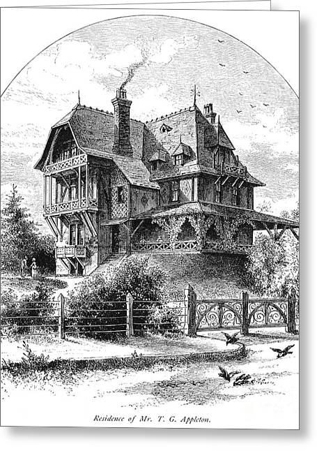 Rhode Island: Villa, 1876 Greeting Card by Granger