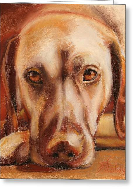 Pet Portraits Pastels Greeting Cards - Rhodesian Ridgeback Greeting Card by Billie Colson