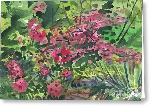 Rhododendrons Greeting Cards - Rhododendrons and Azaleas Greeting Card by Donald Maier