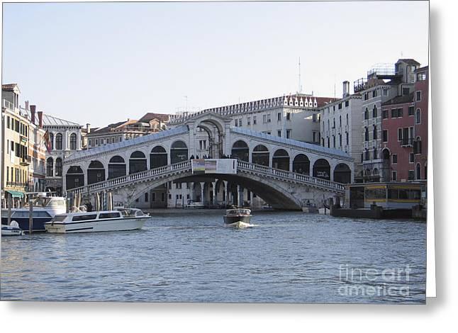 Canal Grande Greeting Cards - Rialto. Venice Greeting Card by Bernard Jaubert