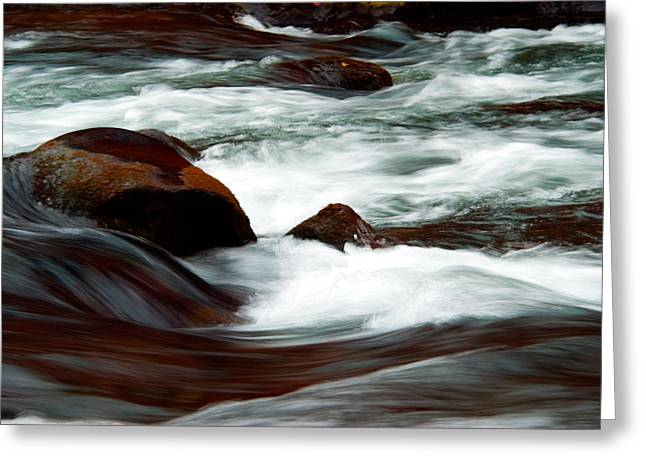 Misery Greeting Cards - Ribbons of Water Greeting Card by Betty LaRue