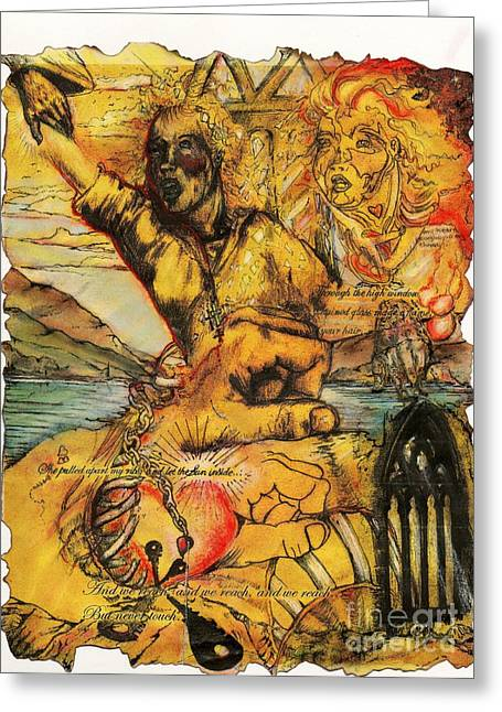 Dali Inspired Greeting Cards - Ribcage  Greeting Card by Ian Glover