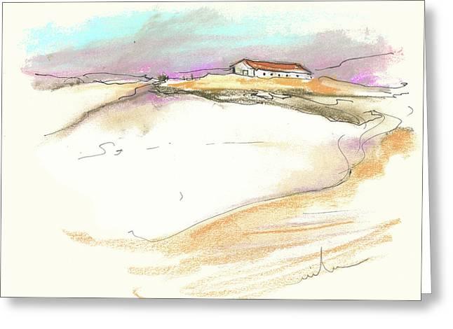 Del Drawings Greeting Cards - Ribera del Duero in Spain 02 Greeting Card by Miki De Goodaboom