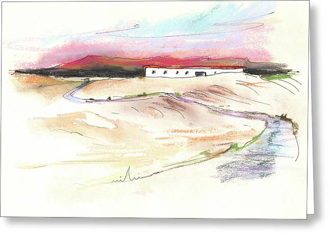 Del Drawings Greeting Cards - Ribera del Duero in Spain 09 Greeting Card by Miki De Goodaboom