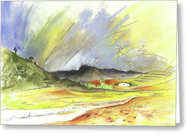 Del Drawings Greeting Cards - Ribera del Duero in Spain 10 Greeting Card by Miki De Goodaboom