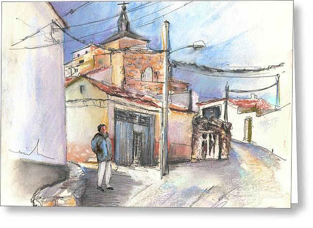 Wine Country. Drawings Greeting Cards - Ribera del Duero in Spain 12 Greeting Card by Miki De Goodaboom