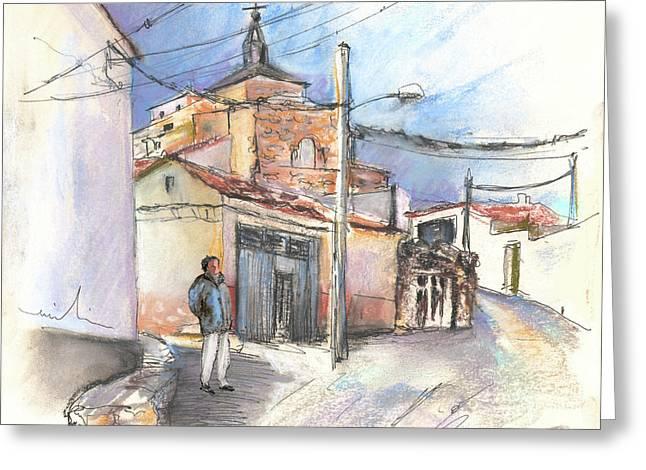 Del Drawings Greeting Cards - Ribera del Duero in Spain 12 Greeting Card by Miki De Goodaboom