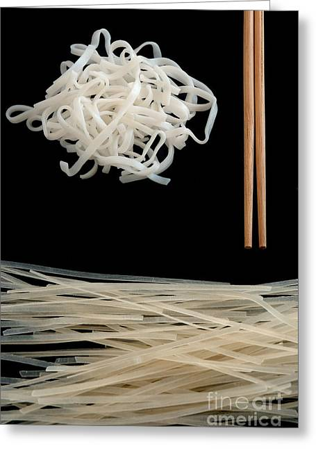 Noodles Greeting Cards - Rice Noodles Greeting Card by HD Connelly