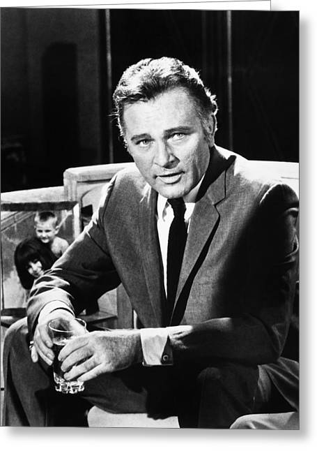 Burton Greeting Cards - Richard Burton (1925-1984) Greeting Card by Granger