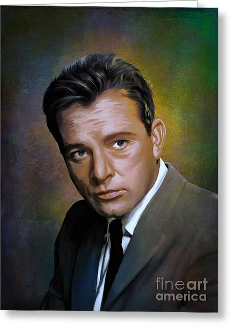 Manual Greeting Cards - Richard Burton  Greeting Card by Andrzej Szczerski