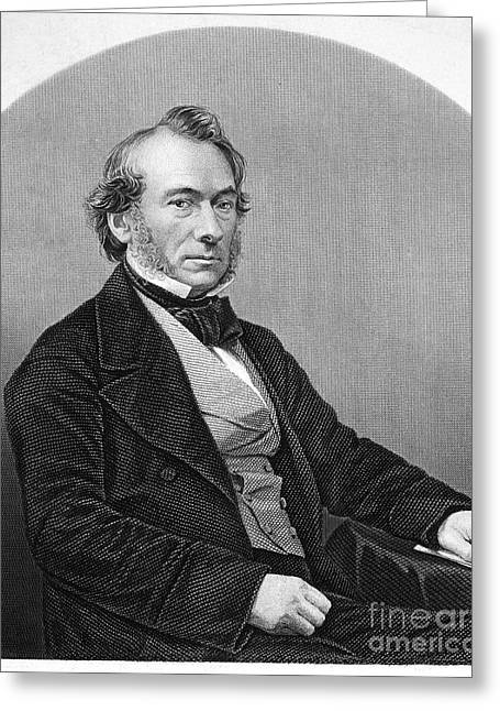 Faire Greeting Cards - RICHARD COBDEN (1804-1865). /nEnglish politician and economist. Steel engraving, English, 19th century Greeting Card by Granger