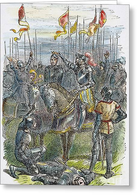 1485 Greeting Cards - Richard Iii At Bosworth Greeting Card by Granger