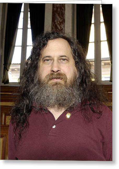 Programming Greeting Cards - Richard Stallman, Software Developer Greeting Card by Volker Steger