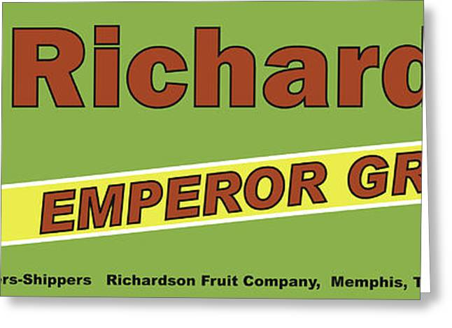 Labelled Greeting Cards - Richardson Grapes Greeting Card by John OBrien