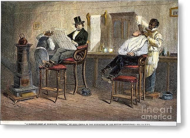 Richmond Barbershop, 1850s Greeting Card by Granger
