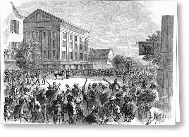 Post-civil War Greeting Cards - Richmond Bread Riot, 1867 Greeting Card by Granger